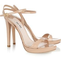 Miu Miu Patent-leather sandals, found on polyvore.com