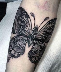 Big Butterfly Arm Tattoo
