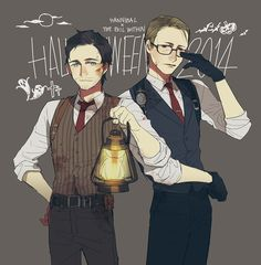 Halloween cosplay! Will as Sebastian & Dr.Lecter as Joseph. ^p^) http://mixed-bless-ing.tumblr.com/post/101446186507/halloween-cosplay-will-as-sebastian-dr-lecter
