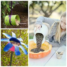 18 totally awesome bird feeder crafts for kids. I love the Lego bird feeder! Bird Feeder Craft, Bird Feeders, Diy Crafts For Kids, Crafts To Sell, Kids Diy, Summer Crafts, Beautiful Boys, Craft Tutorials, Craft Projects