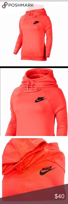 Nike Women's Sportswear Rally Hoodie -Ember Glow Excellent Condition!! Worn once! This pullover features a jersey-lined hood and a brushed-back fleece interior for premium warmth and comfort. Its raglan sleeves give you plenty of space to move, while the set-in pockets offer space for storage on the go. Say hello to your wardrobe standout with the Nike® Women's Sportswear Rally Hoodie. Like New!! Nike Tops Sweatshirts & Hoodies