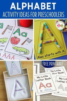 Word Family Activities, Alphabet Activities, Language Activities, Literacy Activities, Teaching Letters, Learning The Alphabet, Fun Learning, Kindergarten Readiness, Preschool Kindergarten