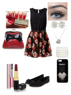"""""""Summer Date"""" by destinee-hogeland ❤ liked on Polyvore featuring Too Faced Cosmetics, Chanel, Dolce&Gabbana, Sourpuss and Rina Limor"""