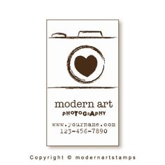 Business Card Stamp Custom Rubber Stamp Custom Stamp Personalized ...