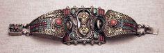 Vintage Tibetan Wisdom, Dzi and Dorje Amulet Bracelet by SilkRoadJewelry