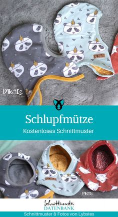 Schlupfmütze nähen kostenloses Schnittmuster Kinder Babys Nähidee Freebie gratis download Mütze warm winter mit Hals Sewing Projects For Beginners, Sewing Hacks, Crocs, Beginner Sewing Projects