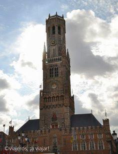 Brujas. Torre Belfort en markt place