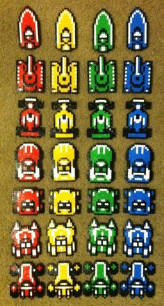 Perler Bead Micro Machines by ~thewiredslain on deviantART