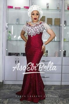 The styles for wedding and other occasions is what we refer to as the aso ebi styles; the aso ebi styles have come to stay, as far as there is an owambe or Latest African Fashion Dresses, African Print Dresses, African Print Fashion, African Dress, Nigerian Fashion, Nigerian Lace, African Clothes, African Prints, African Wedding Attire