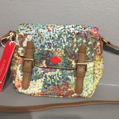 Oilily XS shoulder bag Beautiful small shoulder bag with adjustable strap.   Green/multicolored. Oilily Bags Shoulder Bags