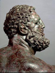 Pugile in riposo (particolare), (attribuita a) Lisippo, ca. 335 a.C, bronzo, Dal Quirinale, Roma, Italia. Museo Nazionale di Palazzo Massimo, Roma, Italia.