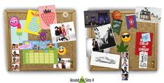 Around the Sims 4 | Custom Content Download | Customize the pinboard/corkboard!
