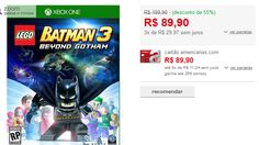 Lego Batman 3 Beyond Gotham Xone << R$ 8990 em 3 vezes >>