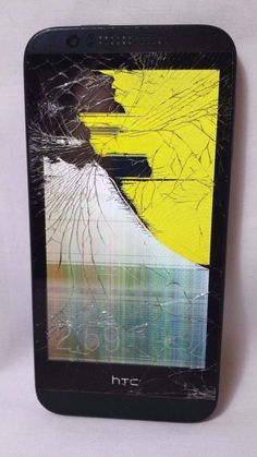 HTC Desire Cricket Black/Grey Smartphone Cracked Screen Holds Charge 0PCV220 #HTC