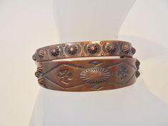 Vintage Copper Cuff Concho Bracelet/Bangle Lot of 2 Tribal Boho Retro Native WOW #Unbranded #Cuff
