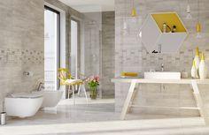 Płytki z odwzorowanym naturalnym pięknem drewna. Beżowa łazienka będzie zawsze na czasie. Floorwood - Opoczno - płytki ceramicnze 60x60