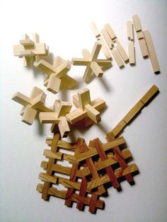 Chidori: A traditional Japanese wooden toy with interlocking wooden planks. by Kengo Kuma & Associates