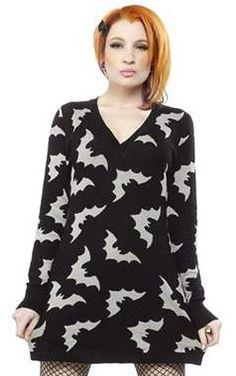 Sourpuss Gothic Bats Sweater Dress