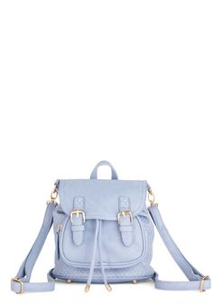 Like, Tote-ally Mini Backpack. Tote your belongings in totally sweet style with this 90s-reminiscent mini backpack! #blue #modcloth