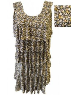 robe volants superposés floral - CpourL Dresses, Fashion, Trendy Outfits, Gowns, Vestidos, Moda, Fashion Styles, The Dress, Fasion