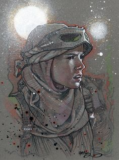 Rey by Tony Harris Rey Star Wars, Star Wars Fan Art, Comic Books Art, Comic Art, Book Art, Geof Darrow, Amazing Art, Marvel Comics, Art Gallery