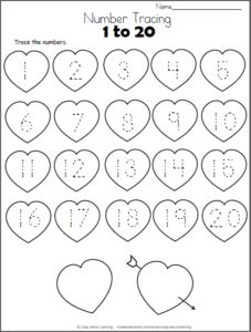 Lady bug hearts color by number. Great for one of those