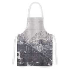 Kess InHouse Suzanne Carter 'Love You to The Moon' Black White Artistic Apron
