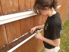 how to build rain gutter planters
