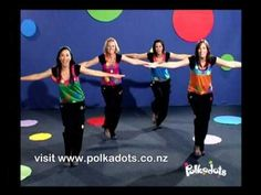 Put on your Funky Feet and your wiggly hips... and don't forget your Thinking Hat and you'll be ready to move and groove with The Polkadots! All of the Polka...