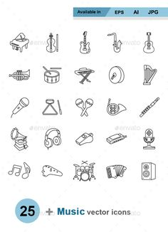 Buy Music outlines vector icons by naripuru on GraphicRiver. Music outlines vector icons Attached ZIP folder contains: Music Doodle, Doodle Icon, Doodle Art Letters, Doodle Lettering, Drum Tattoo, Music Tattoos, Tatoos, Handwriting Fonts, Easy Drawings
