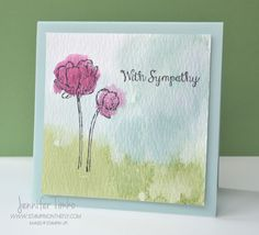 The watercolor wash background on this card by Jennifer Timko is just lovely.