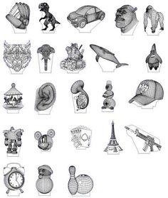 3D illusion premium vector drawings pack 2