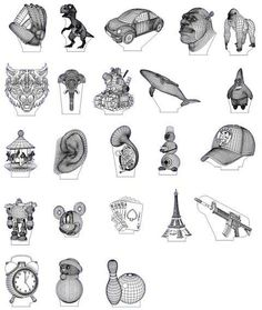 3D illusion premium vector drawings pack 2