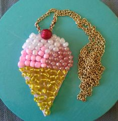 Ice cream necklace from beads