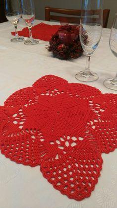 Salvamanteles a ganchillo para navidad Crochet World, Rugs, Christmas, Home Decor, Farmhouse Rugs, Pop Of Color, Xmas, Colors, Home