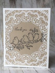 Thank You Card, Product Spotlight sample featuring the Bird Ballad Suite by Stampin' Up! Laser Cut Paper, Stampin Up Catalog, Stamping Up Cards, Bird Cards, Animal Cards, Pretty Cards, Paper Cards, Homemade Cards, Your Cards