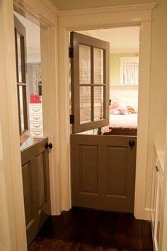 Dutch Door Design Ideas, Pictures, Remodel and Decor Dog Room Design, Door Design, House Design, Diy Bamboo, Half Doors, Dog Rooms, Kids Rooms, Cheap Doors, House Blinds
