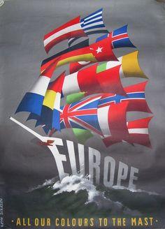 Propaganda: Europa, Marshall-plan - Ontwerp: Reyn Dirksen - ca. 1950