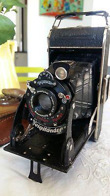 Appareil photo ancien Voigtländer Bessa Voigtar 1:6,3 Old german folding camera