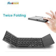 Twice Folding Bluetooth Keyboard BT Wireless EN-RU //Price: $30.65 & FREE Shipping // #outfit #cute #stylish