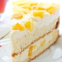 Sponge cake layered with cream and chopped pineapple, topped with whipped cream makes for this rich and smooth Pineapple Pastry.