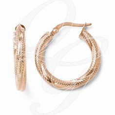 Jewelry Best Seller Leslies 10K Polished Twisted Hoop Earrings