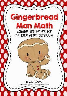 Gingerbread Man Math Mini-Unit GIVEAWAY from Mrs. Lowes' Kindergarten Korner!