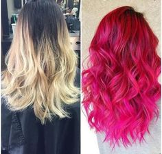 18 Schattierungen von Hair Hair Hair Source by sehtasar Pink Ombre Hair, Hot Pink Hair, Fuschia Hair, Turquoise Hair, Neon Hair, Violet Hair, White Hair, Hair Colorful, Bright Hair Colors