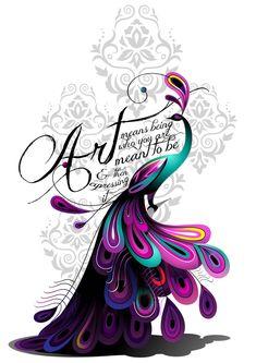Peacock Drawing Tattoo   art peacock tattoo by ivyswoman designs interfaces tattoo design 2013 ...