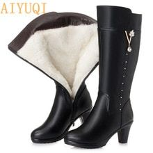 Women's winter boots 2019 new genuine leather female boots size 43 warm high-heeled wool boots women trend Martin boots women Get the latest womens fashion online new styles every day from dresses, and more . shop womens clothing now! Thigh High Boots Heels, Heeled Boots, Fur Boots, Shoe Boots, Riding Boots, Women's Motorcycle Boots, Women Motorcycle, Botas Sexy, Snow Boots Women