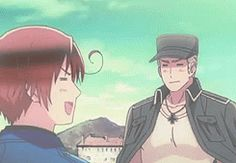 Buon San Valentino - Hug! THAT PART WAS SO CUTE the episode just for GerIta was flipping amazing