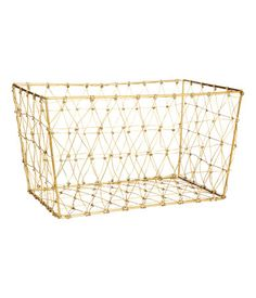 17.99 Rectangular storage basket in metal wire. Size 7 x 7 x 12 1/2 in.