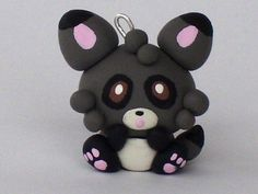 Kawaii Polymer Clay Charm-Li'l Raccoon