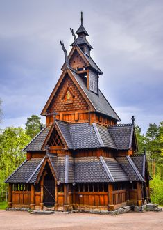 Gol Stave Church at Norsk Folkemuseum - Oslo Norway Interesting Buildings, Amazing Buildings, Unique Architecture, Sustainable Architecture, Beautiful Sites, Beautiful Places, Vikings, Fantasy Places, Cathedral Church